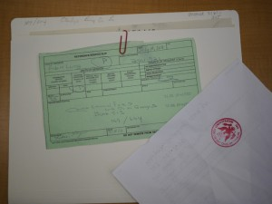 photo of Li Ling-Ai's Chinese Exclusion File