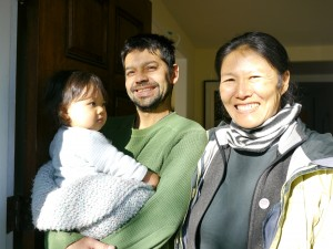 Photo of Ann Kaneko with Julio and Ceiba