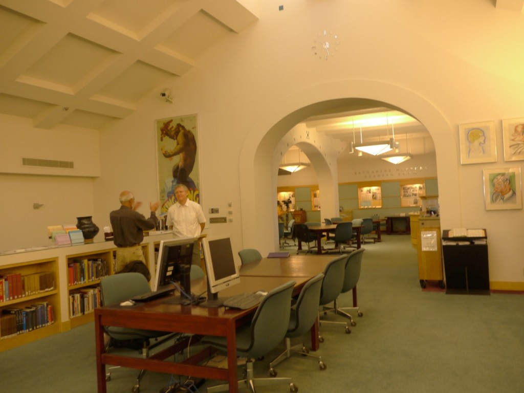 Photo of the Reading Room of the Margaret Herrick Library