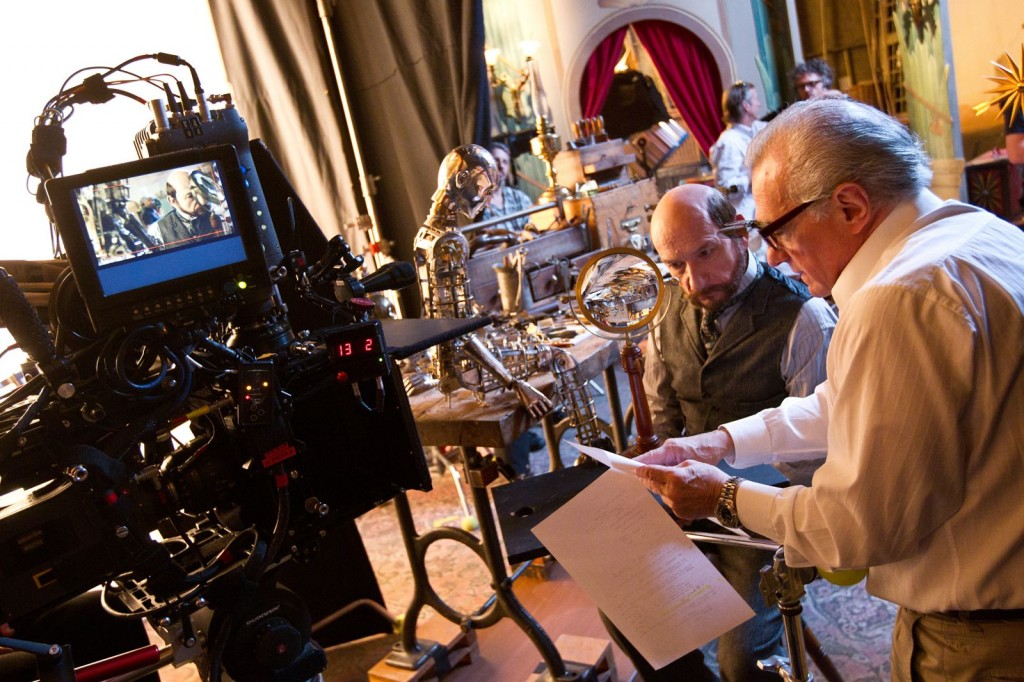 Photo of Ben Kingsley & Martin Scorcese on the set of HUGO