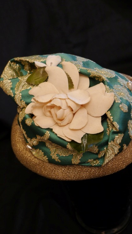 Photo of gold-banded camellia hat by Nick Savage