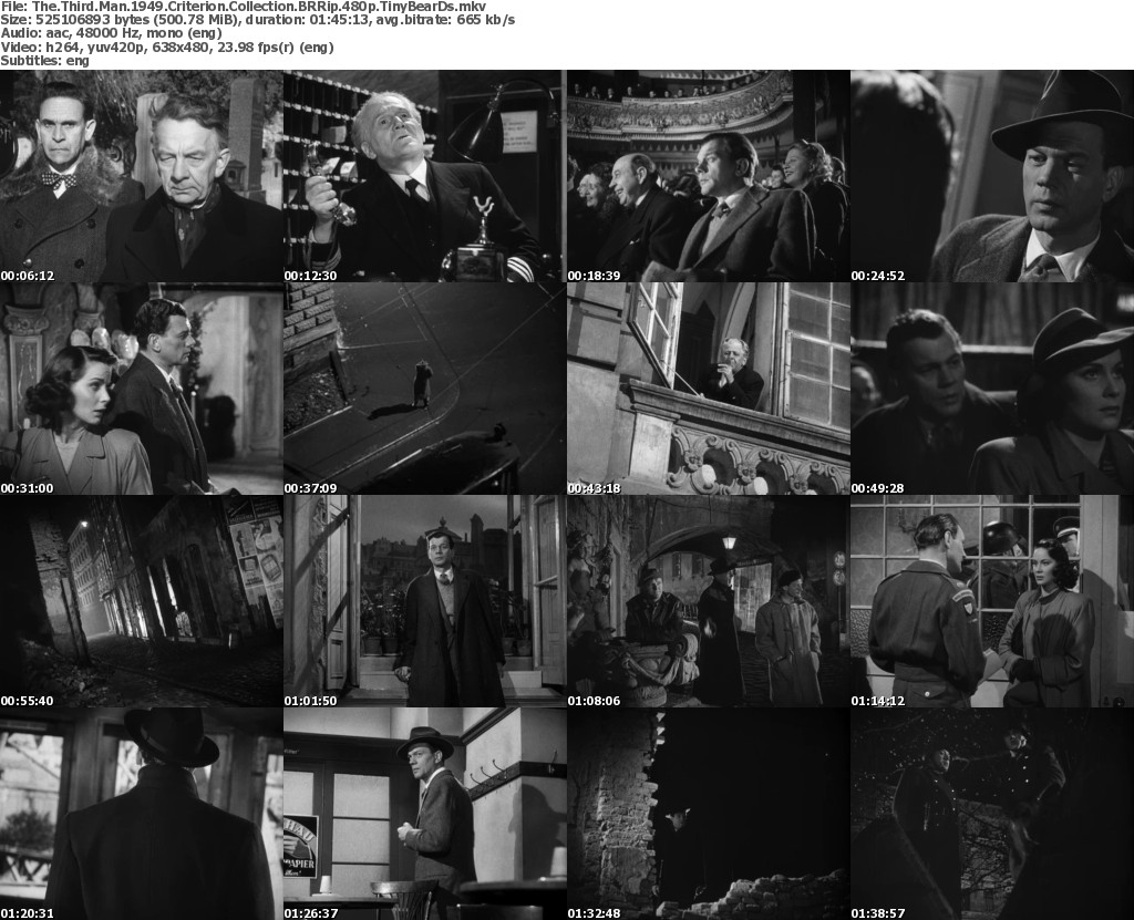 Screen shots from THE THIRD MAN