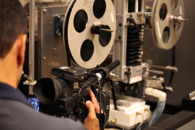 DP Frank Ayala shoots the scanning of a partial copy of KUKAN
