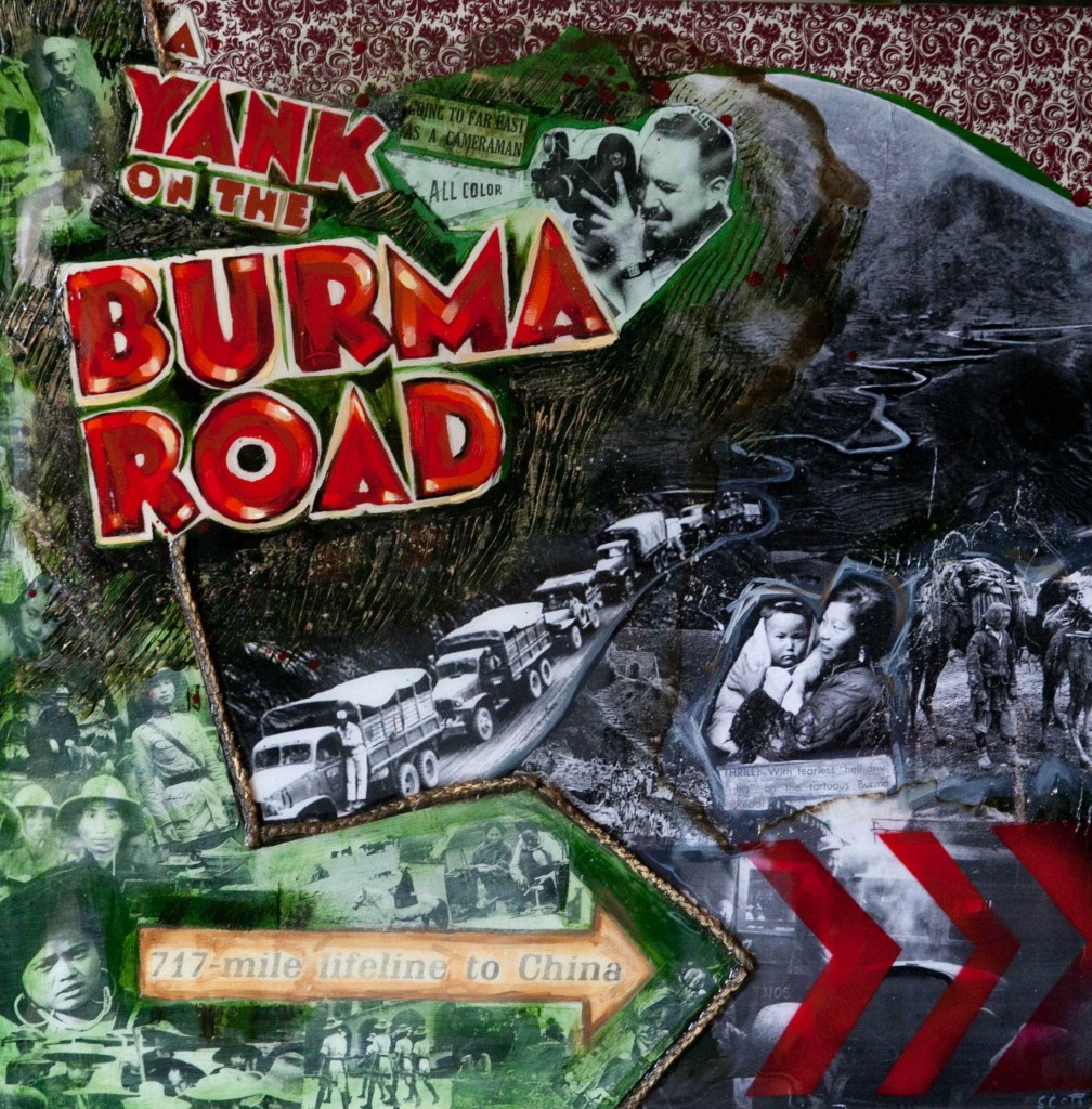 """Burma"" Mixed Media by Michelle Scott for the KUKAN Series"