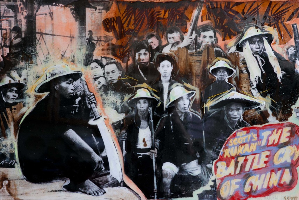 """Guerillas"" Mixed Media by Michelle Scott"