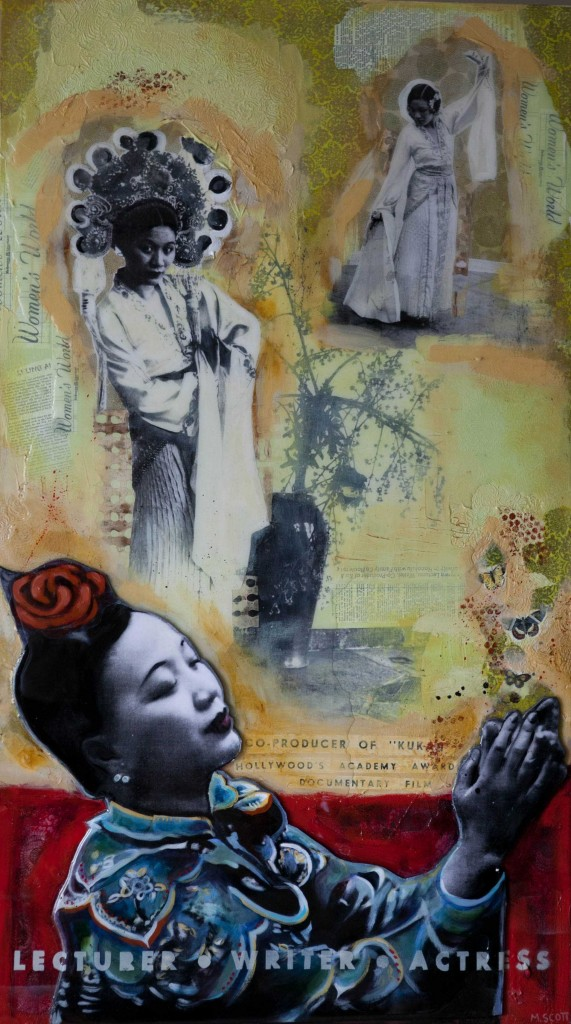 """Heroine (Miss Li Ling Ai)"" Mixed Media by Michelle Scott"