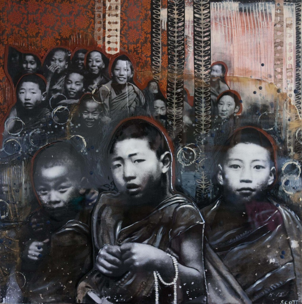 """What about the Children?"" Mixed Media by Michelle Scott"