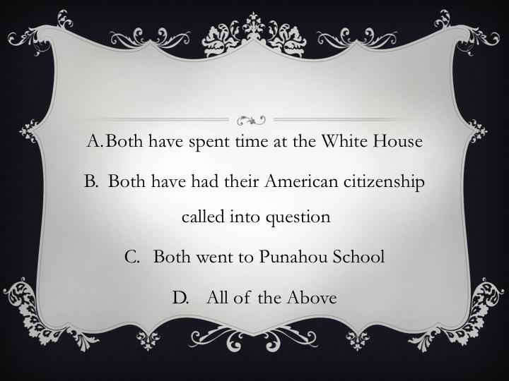 Presidential Trivia Slide 2