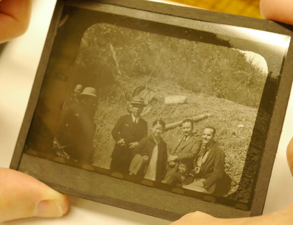 1937 Nanking bomb shelter.  Dr. Betty Li and Rey Scott (far right) with Betty's son Andrew Li