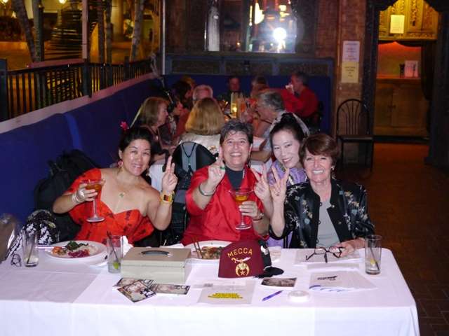 "Mellanie Lee, Debra Zeleznick, Robin Lung and Terry Olival at ""A Night in Old Shanghai"" fundraiser"