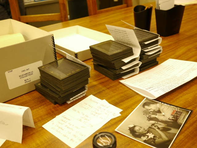 Lantern slides of 1937 Nanking taken by Rey Scott during pre-production for KUKAN
