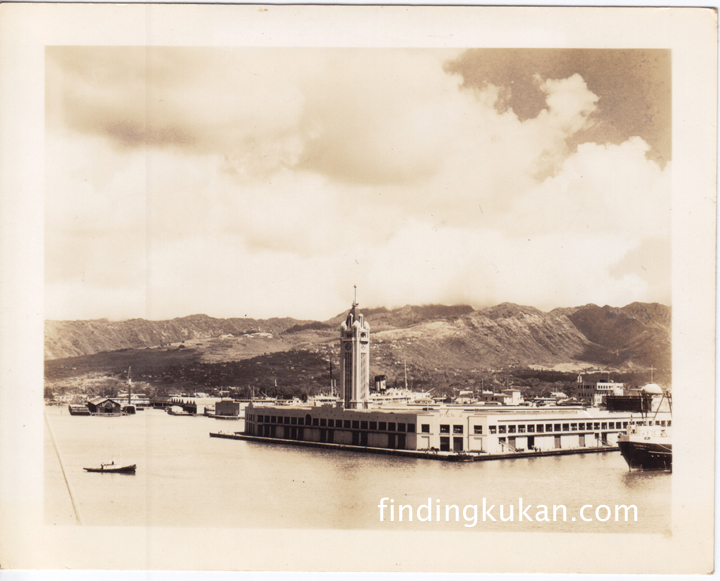 Aloha Tower in the mid 1930s (photo courtesy Susan Cummings)