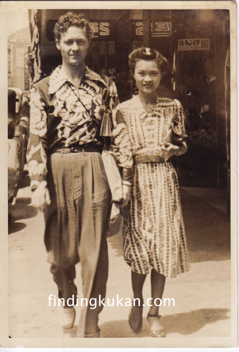 Roy Cummings and May Day Lo in downtown Honolulu