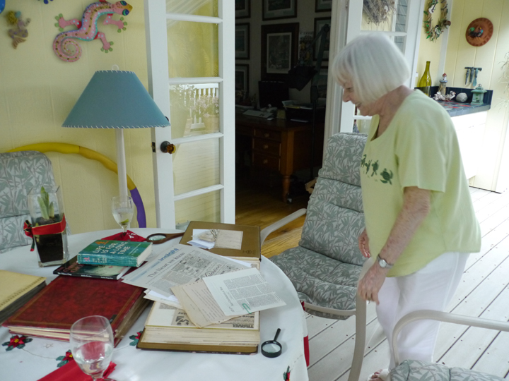 Susan Cummings hunts for clues her husband's photo albums