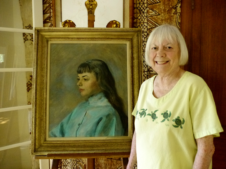 Susan Cummings with portrait