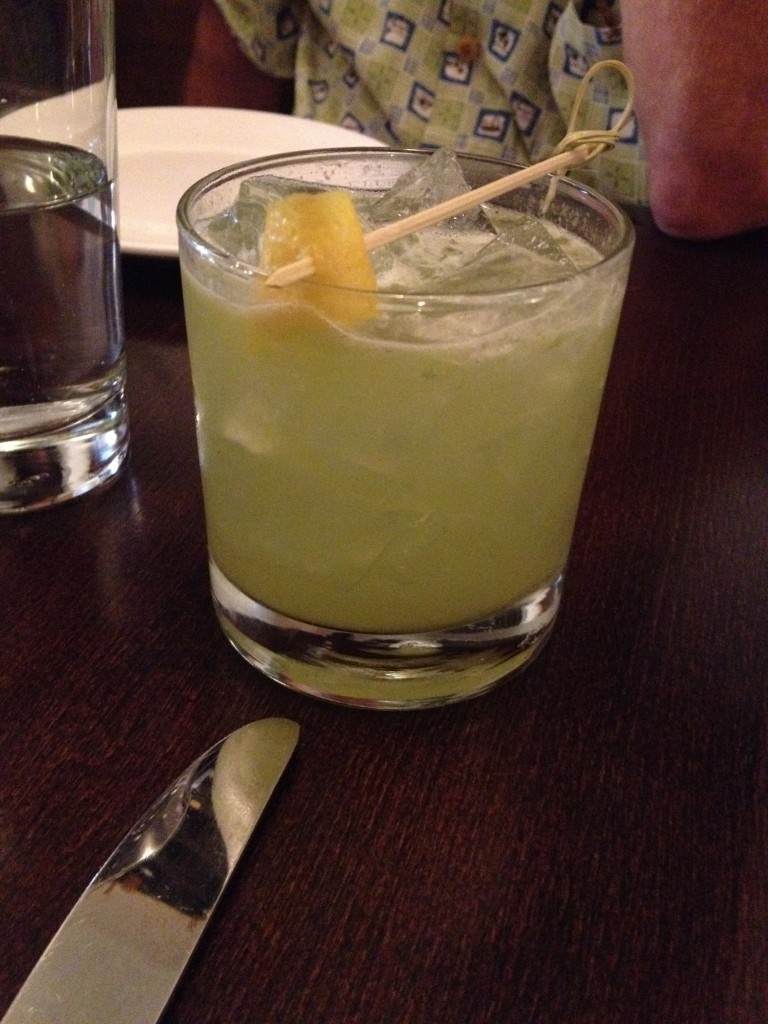 One of the killer cocktails I had in NYC featuring cucumber and gin