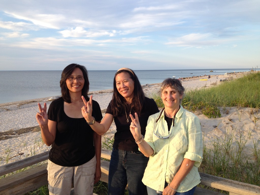 Judy Wu, author of DR. MOM CHUNG, took time out from her Port Jefferson vacation to sit for a great interview. Ruth Bonomo pitched in as DP on short notice, providing wheels, camera and lights. Judy's family fed us a great spaghetti dinner beachside. Signing K for KUKAN!