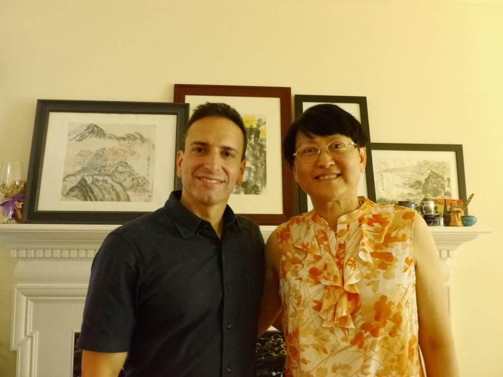 DP Frank Ayala with Danke Li, author of ECHOES OF CHONGQING, WOMEN IN WARTIME CHINA