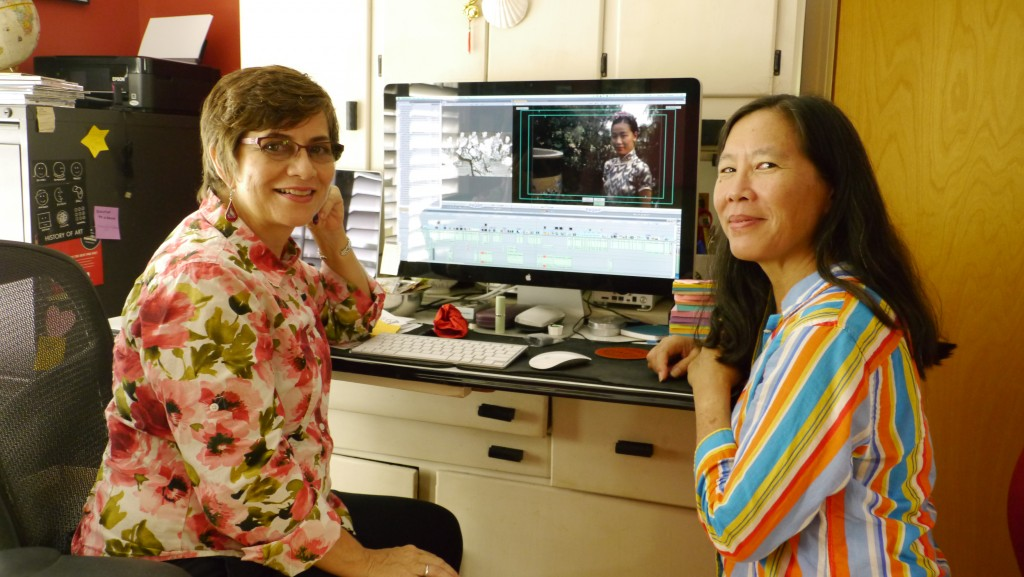 Shirley Thompson and Robin Lung wrap up the last day of a 2-week edit session