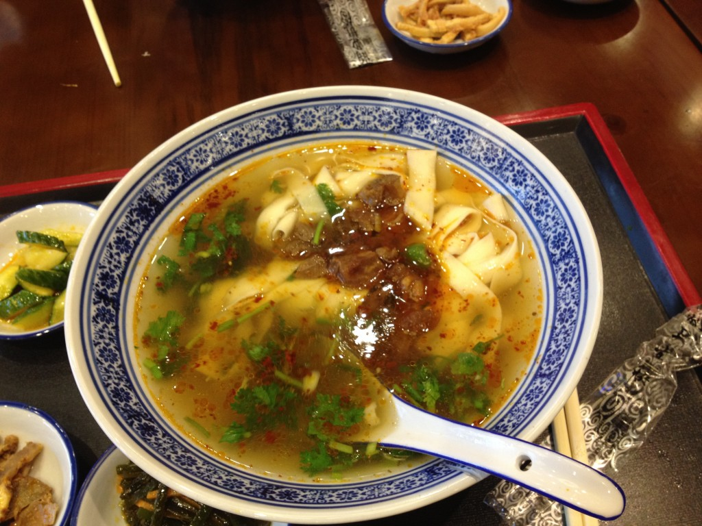 Nothing like restorative noodle soup after studying about wartime massacres. One of my favorite China meals was at the Nanjing airport.
