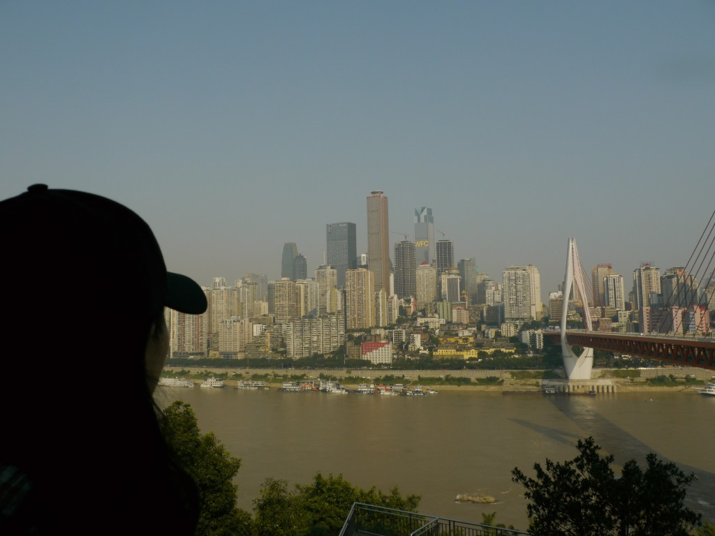 View of Chongqing from the south bank of the Yangtze